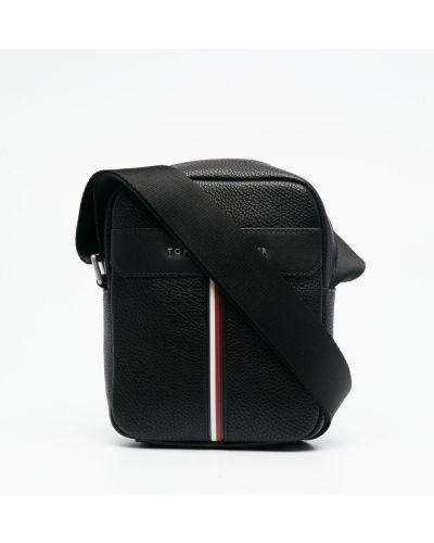 Черная сумка на плечо металлическая на молнии Tommy Hilfiger