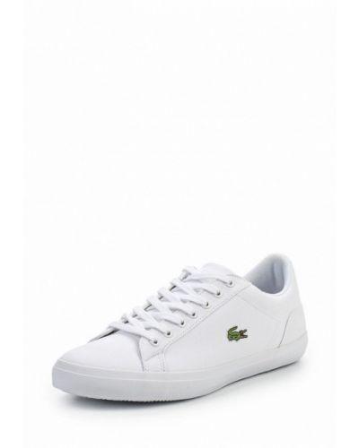 Белые низкие кеды Lacoste