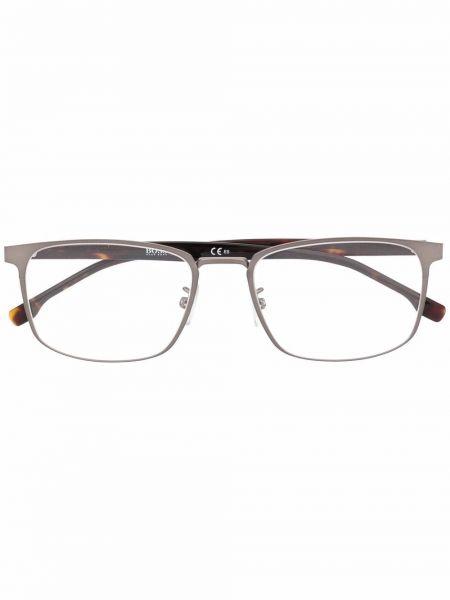 Brązowe okulary srebrne Boss Hugo Boss