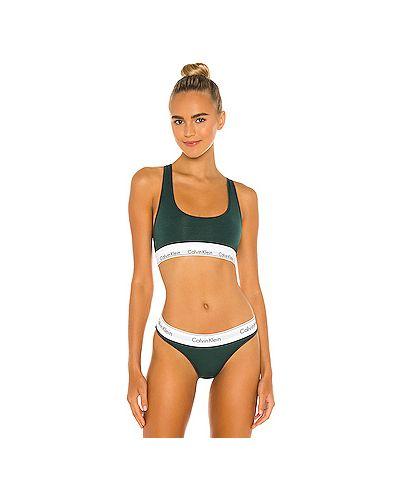 Ватный хлопковый зеленый купальник на резинке Calvin Klein Underwear