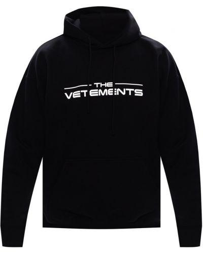 Czarna bluza bawełniana Vetements