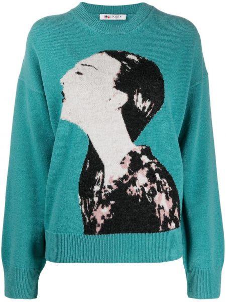 Шерстяной свитер - синий Ports 1961
