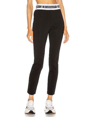 Czarne legginsy z wiskozy Givenchy