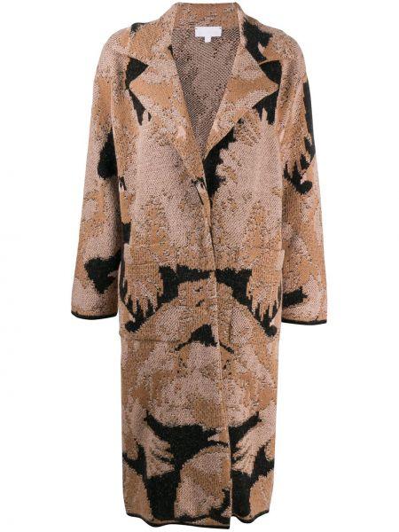 Шерстяное пальто с лацканами с потайной застежкой Lala Berlin