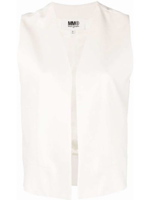 Жилетка без рукавов - белая Mm6 Maison Margiela