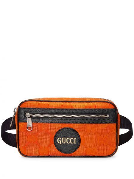 Pasek z klamrą - pomarańczowy Gucci