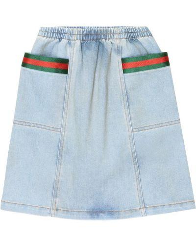 Bawełna bawełna niebieski jeansy Gucci Kids