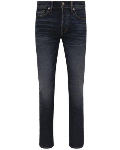 Хлопковые джинсы - синие Tom Ford