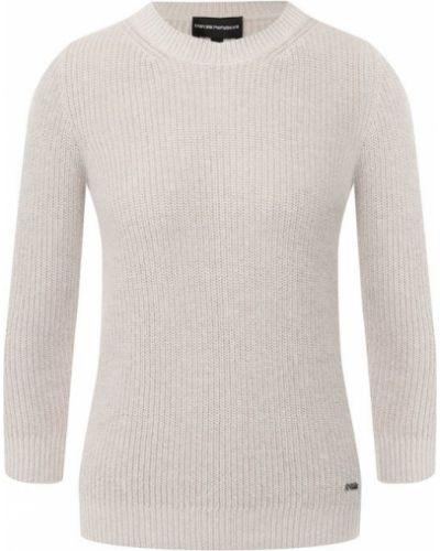 Вязаный свитер из ангоры Emporio Armani
