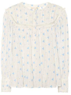 Хлопковая блузка - белая Loveshackfancy