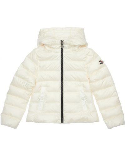 Nylon biały z rękawami kurtka z kieszeniami Moncler