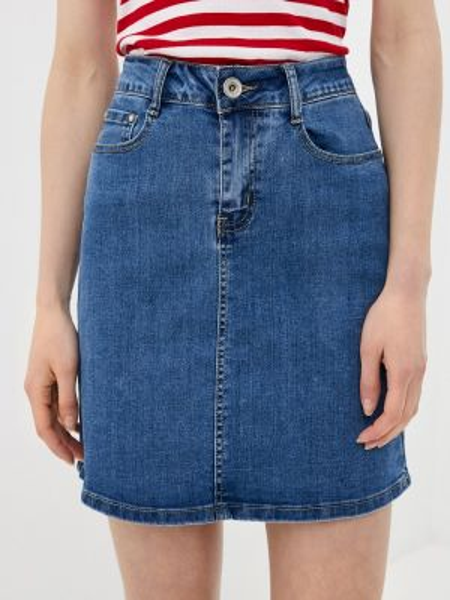 Синяя джинсовая юбка G&g