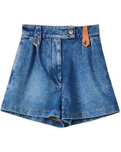Синие хлопковые джинсовые шорты Loewe