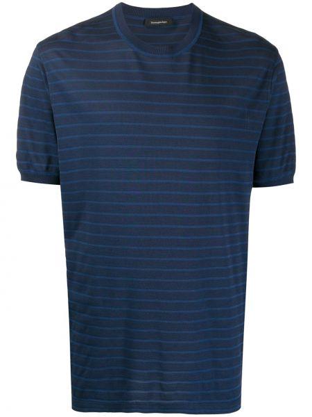 Koszula krótkie z krótkim rękawem jedwab z paskami Ermenegildo Zegna