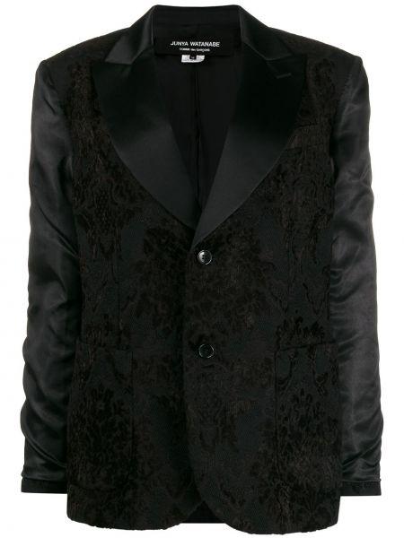 Шерстяной черный пиджак с карманами Junya Watanabe