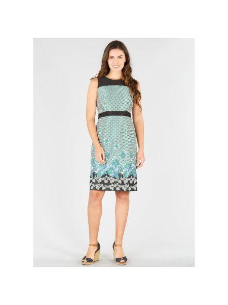 Платье миди в горошек с цветочным принтом Rene Derhy