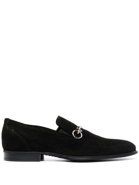 Кожаные черные лоферы на каблуке Cesare Paciotti