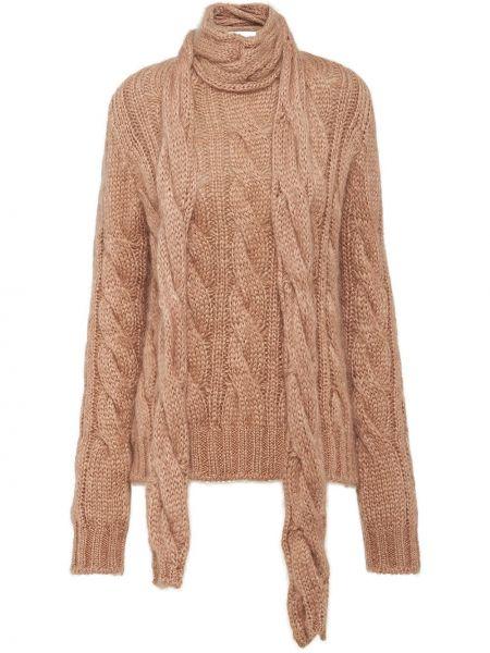 Sweter z moheru włosy wielbłąda Prada