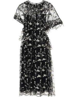 Платье из фатина с цветочным принтом Simone Rocha