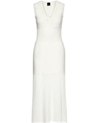 Biała sukienka na co dzień Pinko