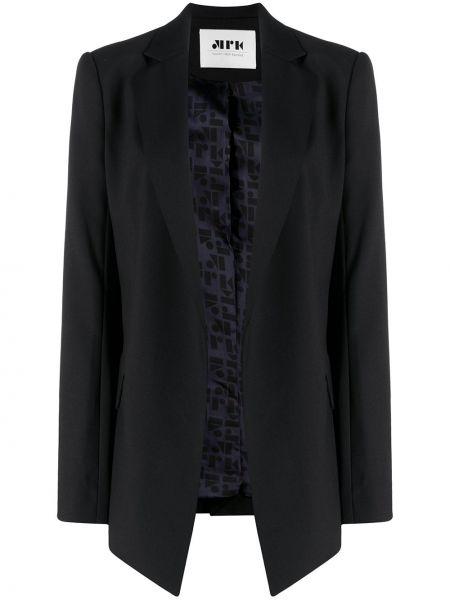 Шерстяной черный удлиненный пиджак с подкладкой Maison Rabih Kayrouz