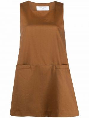 Хлопковое платье мини - коричневое SociÉtÉ Anonyme
