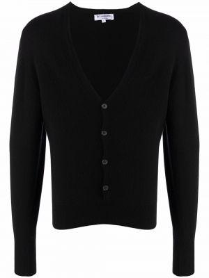 Czarny sweter z dekoltem w serek Yves Saint Laurent Pre-owned
