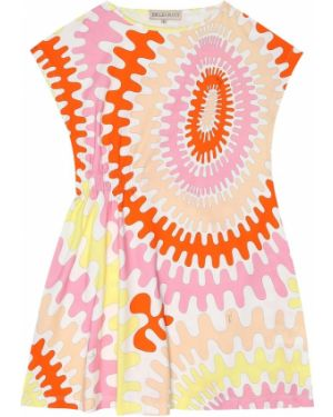 Sukienka różowy z nadrukiem Emilio Pucci Kids