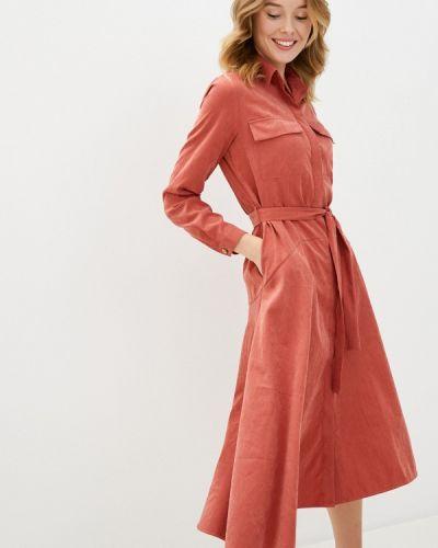 Прямое розовое платье Aelite
