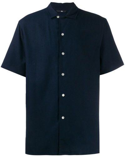 Рубашка с коротким рукавом - синяя J.lindeberg