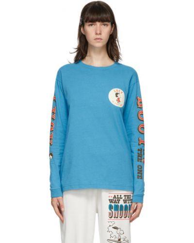 Синяя с рукавами рубашка с воротником Marc Jacobs