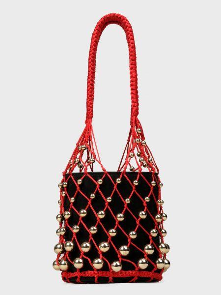 Красная текстильная кожаная сумка Les Petits Joueurs