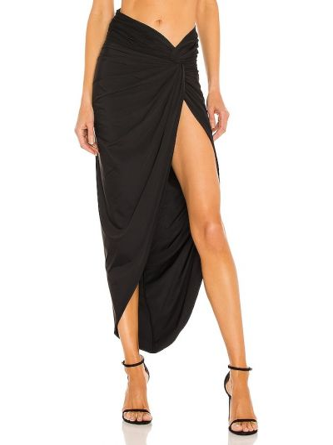 Klasyczna czarna spódnica z nylonu Bronx And Banco