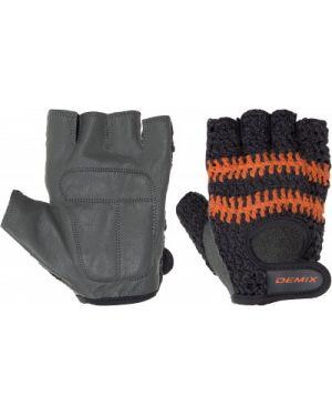 Серые перчатки для фитнеса Demix
