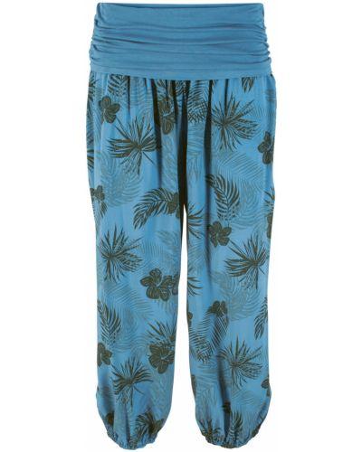Свободные брюки с рисунком синие Bonprix