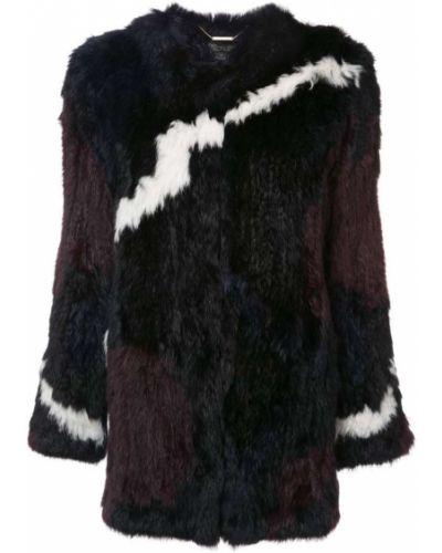 Длинная куртка укороченная с мехом Rachel Zoe