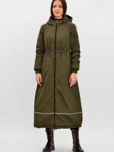 Теплая зеленая утепленная куртка Pavel Yerokin