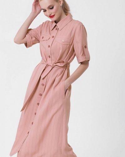 Платье розовое платье-рубашка Lo