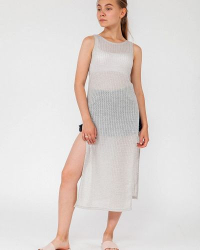 Пляжное платье осеннее серое Street Style
