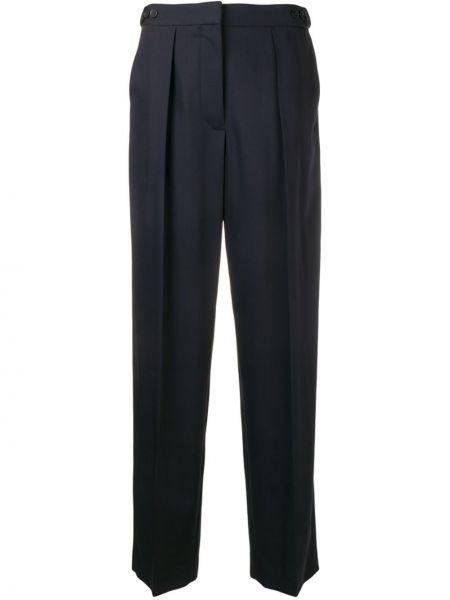 Синие шерстяные свободные брюки свободного кроя на молнии Stella Mccartney