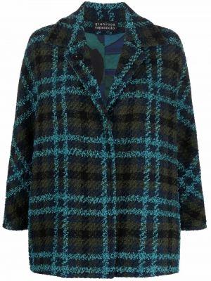 Синяя длинная куртка Gianluca Capannolo