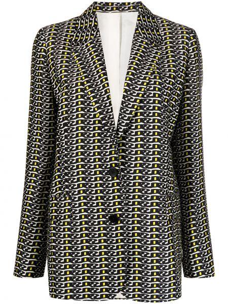 Шерстяной черный удлиненный пиджак с длинными рукавами Christian Wijnants