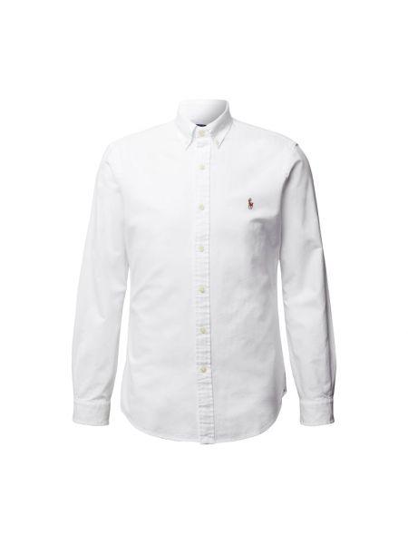 Biała koszula oxford bawełniana z długimi rękawami Polo Ralph Lauren