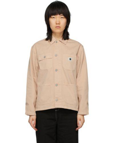 Bawełna z rękawami bawełna długa kurtka z kieszeniami Carhartt Work In Progress