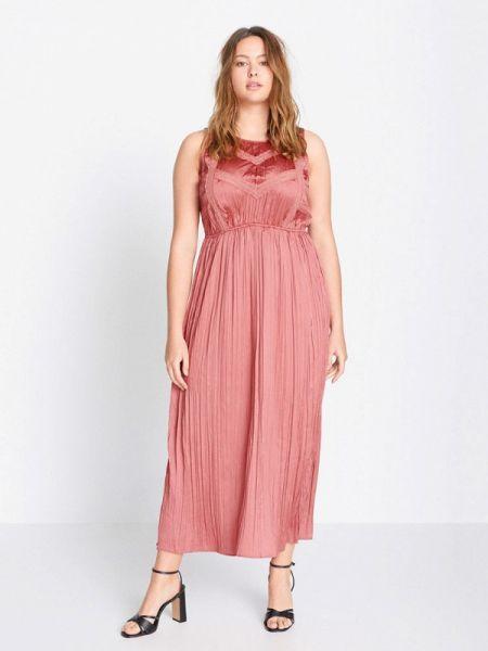 Вечернее платье розовое весеннее Violeta By Mango
