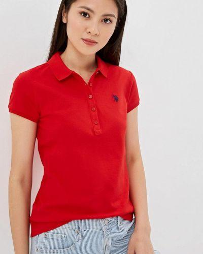 Поло красное U.s. Polo Assn.