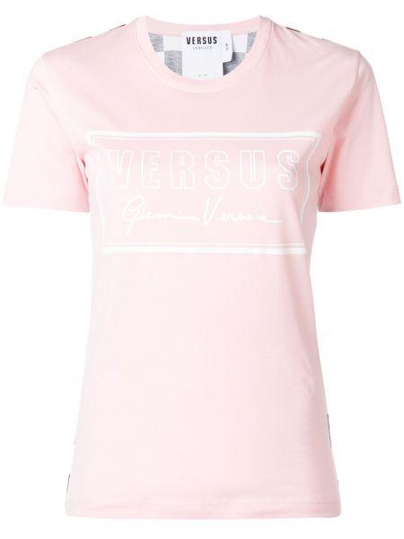 Футболка с принтом - розовая Versus
