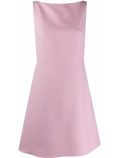 Шелковое розовое платье с открытой спиной Valentino