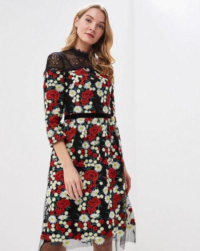 Вечернее платье осеннее черное Ksenia Knyazeva