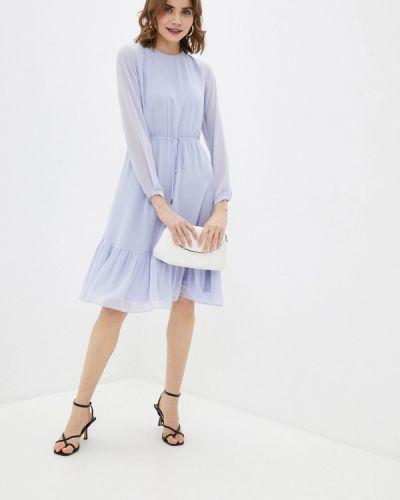 Фиолетовое прямое платье Lusio